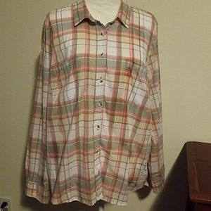 Sonoma plaid button down.